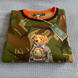 Ralph Lauren Polo Camo Bear Sweatshirt 3XLT NEW